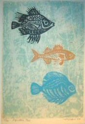 "Aquatic Trio, 1962 edition of 40 24"" x 16"""